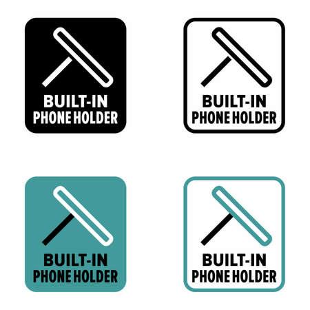 """Universal adjustable """"built-in phone holder"""", information sign"""