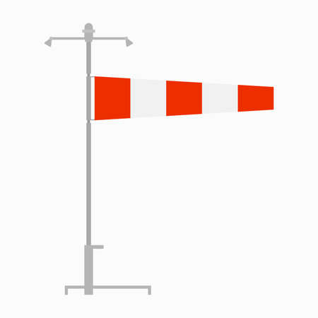 Airfield wind direction indicator, windsock