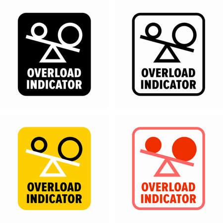 Overload indicator, maximum permissible mass exceeding informer