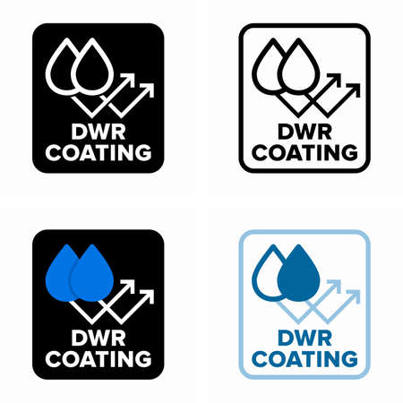 Durable water repellent or DWR coating, hydrophobic fabric treatment Çizim