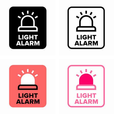 Flashing light alarm, warning lamp signal