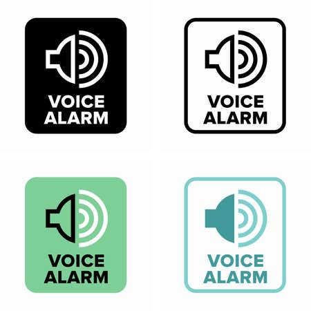 Voice alarm klaxon, amplified speaker