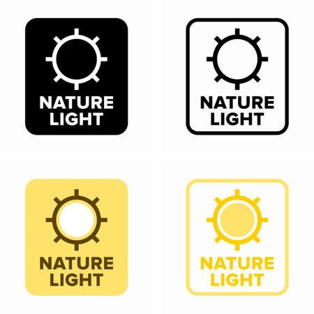 Nature light function, sunrise and sunset simulation Illusztráció