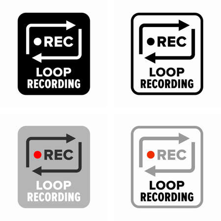 Audio and video continuous loop recording process Çizim