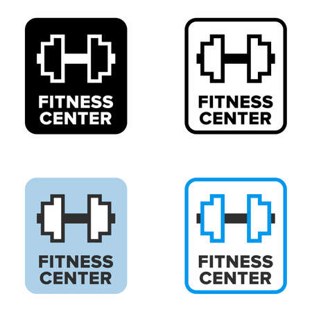 Fitness center, gym and wellness club information sign