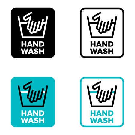Hand wash, no machine use information sign Vettoriali