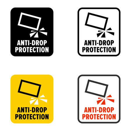 Anti drop protection, information sign