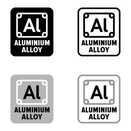 Compound with aluminum alloy predomination, information sign