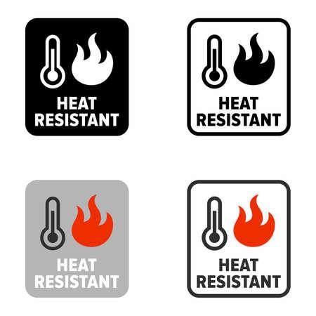 Heat resistant, utensils or item property, information sign