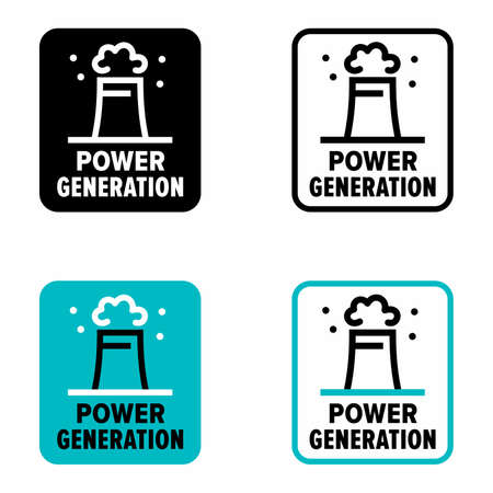 Power generation solutions, thermal plant 矢量图像