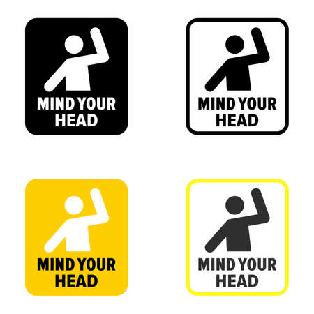 Caution: Mind your head, information sign