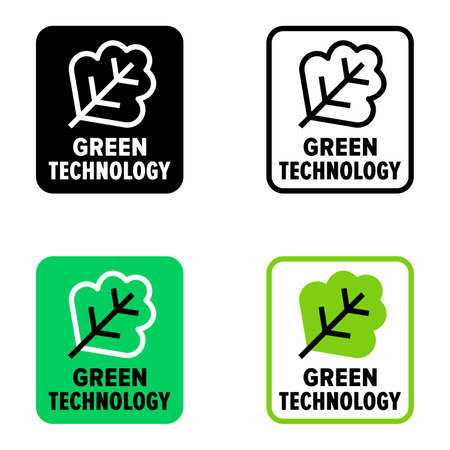 Green technology, environmentally friendly science 矢量图像