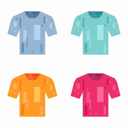T-shirt, pixel flat design