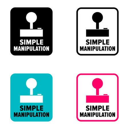 """Simple manipulation"" easy handling technology information sign"