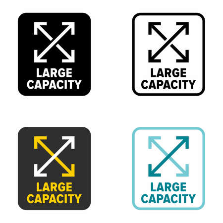 Large capacity, high load, information sign 矢量图像