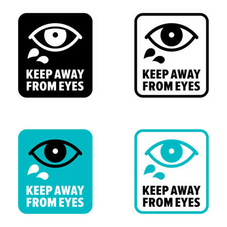 Keep away from eyes, information sign 矢量图像