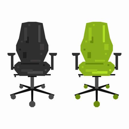 Office chair, pixel flat design