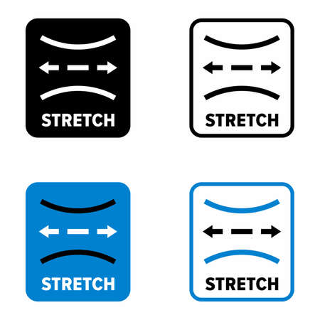 """""""Stretch"""" soft, elastic and extending something, information sign"""