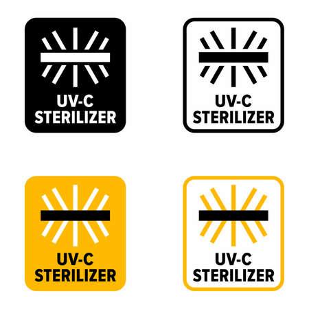 """UV-C sterilizer"" sanitation device information sign"