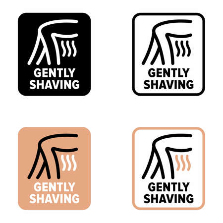 """""""Gently shaving"""" device, tool and procedure information sign"""
