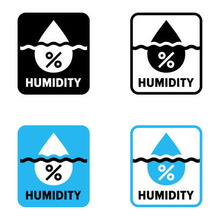 """""""Humidity"""" percentage, water vapor concentration information sign"""