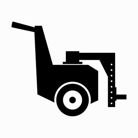 Hydraulic machine mover rigger with skating rollers Illustration