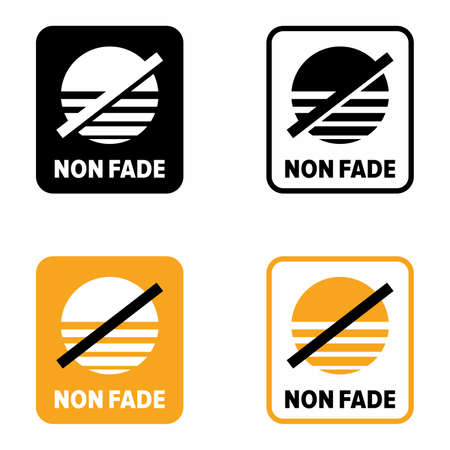 """""""Non fade"""" item property and quality information sign"""