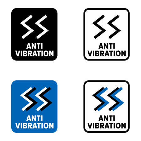 """""""Anti vibration"""" product and material information sign"""