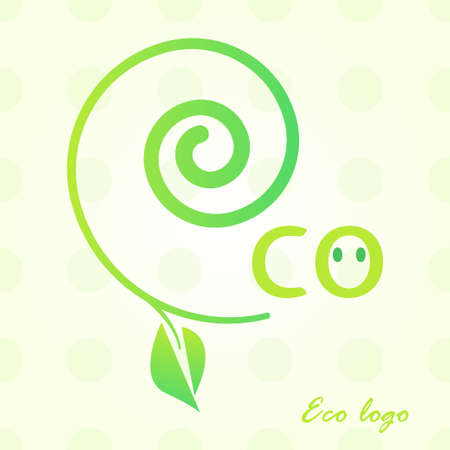conservancy: the concept of ecology green world.  tree and the inscription on the white background. Illustration