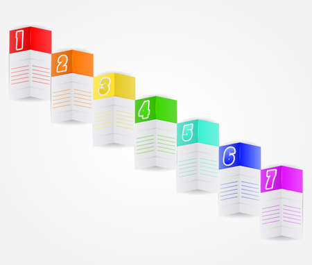 folded paper: Folded paper background. Template for pasting your text, or infographic