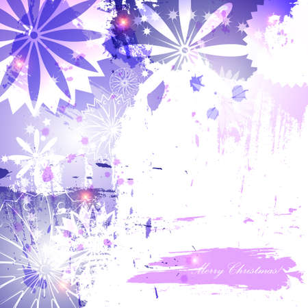 purpule: Abstract christmas background. Brush strokes in blue and purpule colors