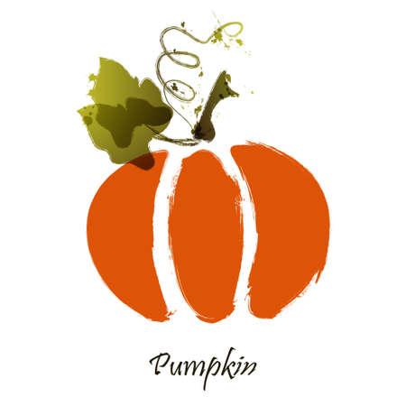 cool stylized pumpkin. Grunge pumpkin Illustration