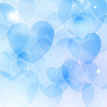 corazones azules: Beautiful background with blue hearts Vectores