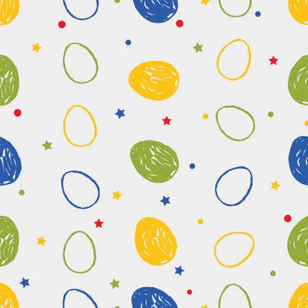 Easter eggs seamless pattern Illustration