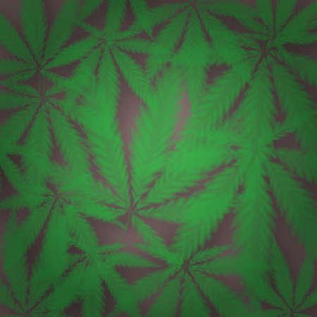 Marijuana or cannabis vector background