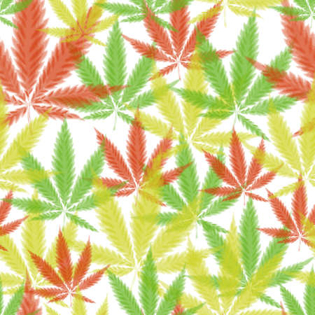 Cannabis leafs - seamless pattern can be used for your design Illustration