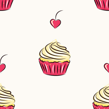 cakes seamless pattern for your design