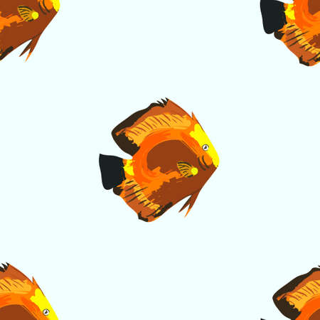 humorous: Seamless pattern with fishes
