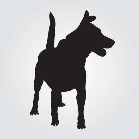Icono de signo de perro. Símbolo de mascotas Perro negro sólido aislado Foto de archivo - 88707575