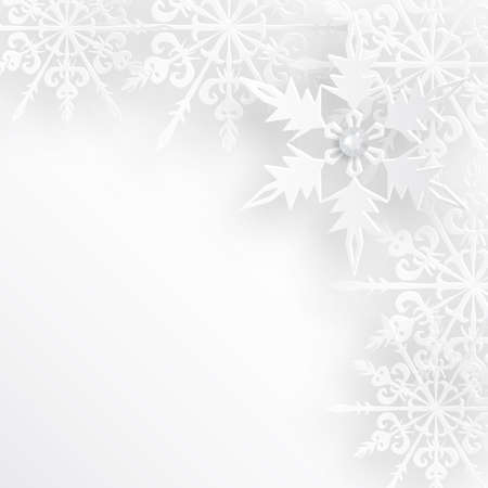 christmasbackground: Winter background design or christmas greeting card, paper cut out art style