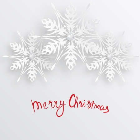 christmasbackground: vector christmas snowflake paper background