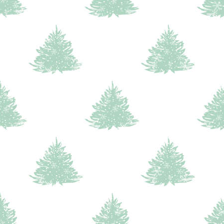 Abstract art vector background. Christmas tree seamless pattern illustration for wrapping paper of fabric. concept winter background.