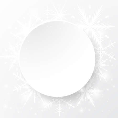 Light blank space with snowflakes template design.