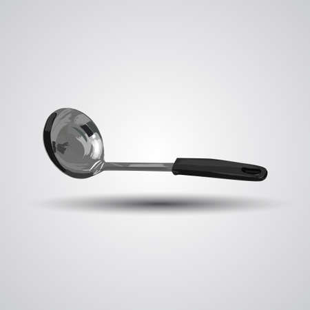 Illustration of a ladle isolated on a white background