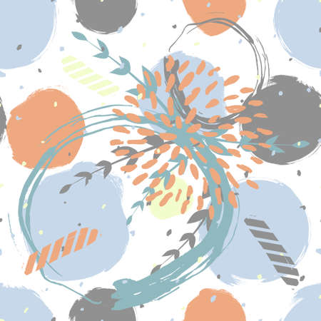 Seamless cute floral pattern on the bright background Foto de archivo - 101517951