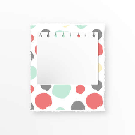 Decorative torn paper, notebook page for text