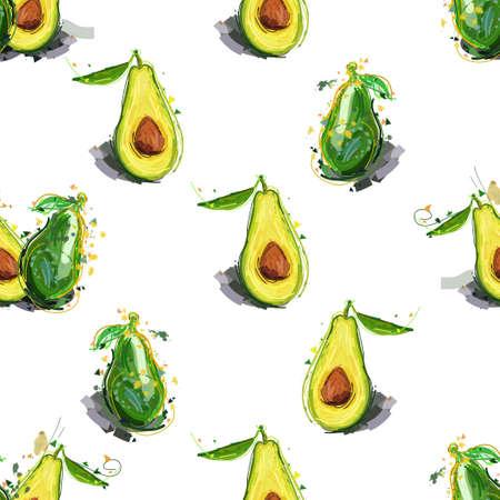 Avocado print. Seamless pattern
