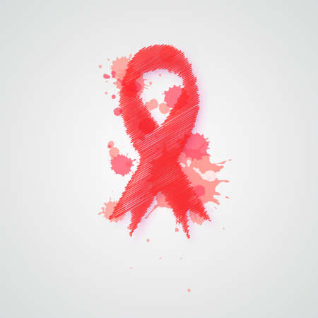 World AIDS day. Awareness. Medical sign. Vector icon.