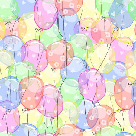 Cartoon balloons seamless pattern. 版權商用圖片
