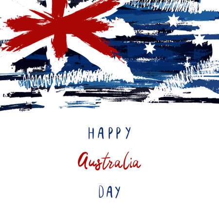 Happy Australia Day Vector illustration. Greeting card, poster and banner.